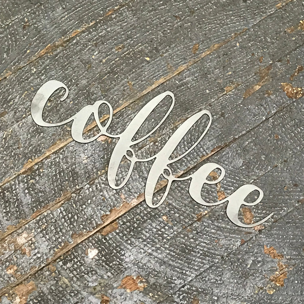 Coffee Word Metal Sign Wall Hanger