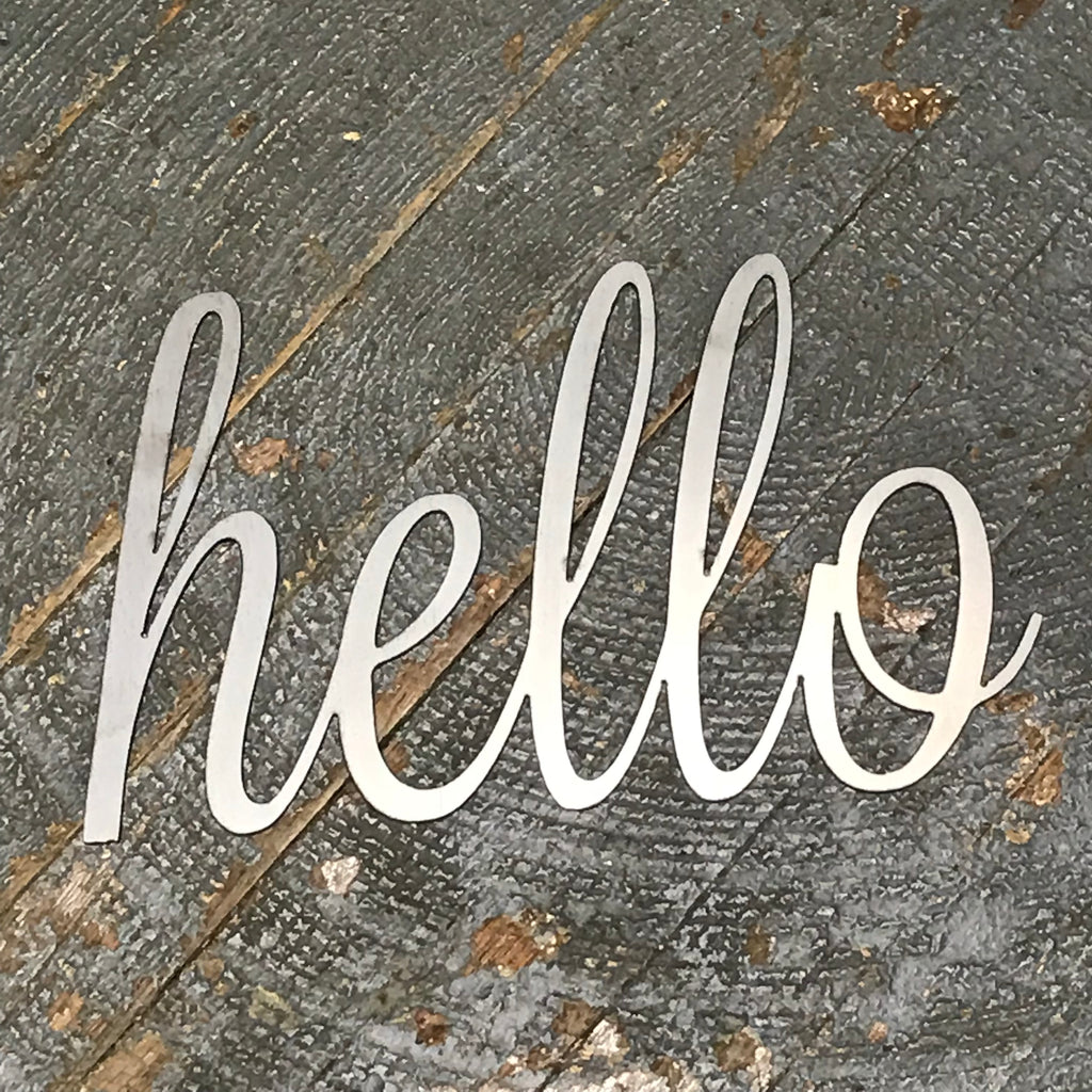 Hello Word Metal Sign Wall Hanger
