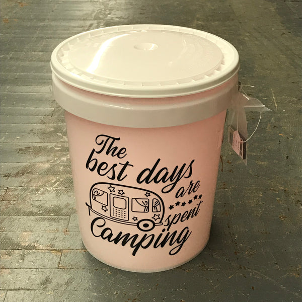 Best Days Are Spent Camping Light Up Bucket