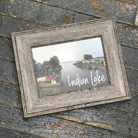 Indian Lake Buds Marine Harborside Bridge Picture Frame