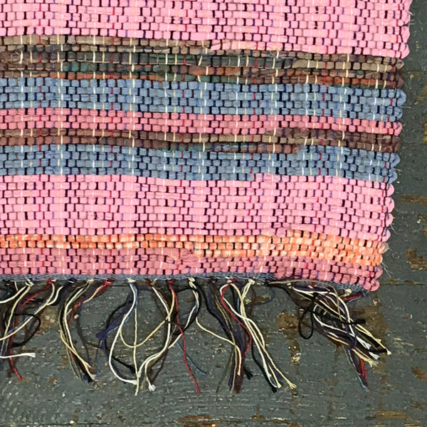#30 Sherbet Sunset Rag Weaved Table Runner Placemat Rug by Morgan