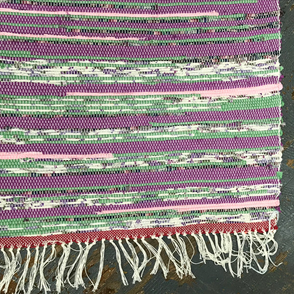 #89 Garden of Dusk Rag Weaved Table Runner Placemat Rug by Tom