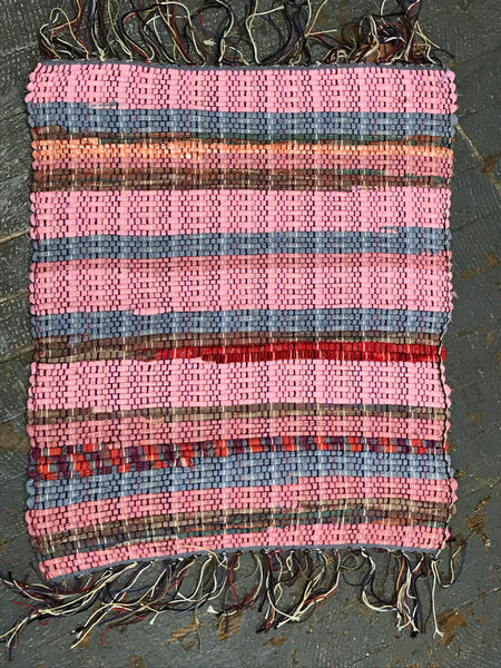 #38 Small Sundae Rag Weaved Table Runner Placemat Rug by Morgan