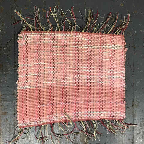 #151 Rose Colored Glasses Rug Weaved Table Runner Rug Placemat by Morgan