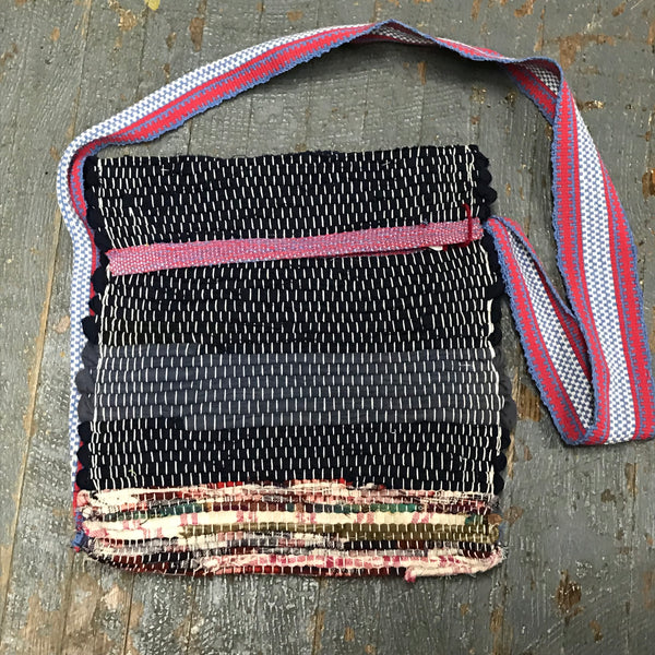 #108 Rag Rug Weaved Crossbody Shoulder Tote Purse Bag with Wallet by Morgan