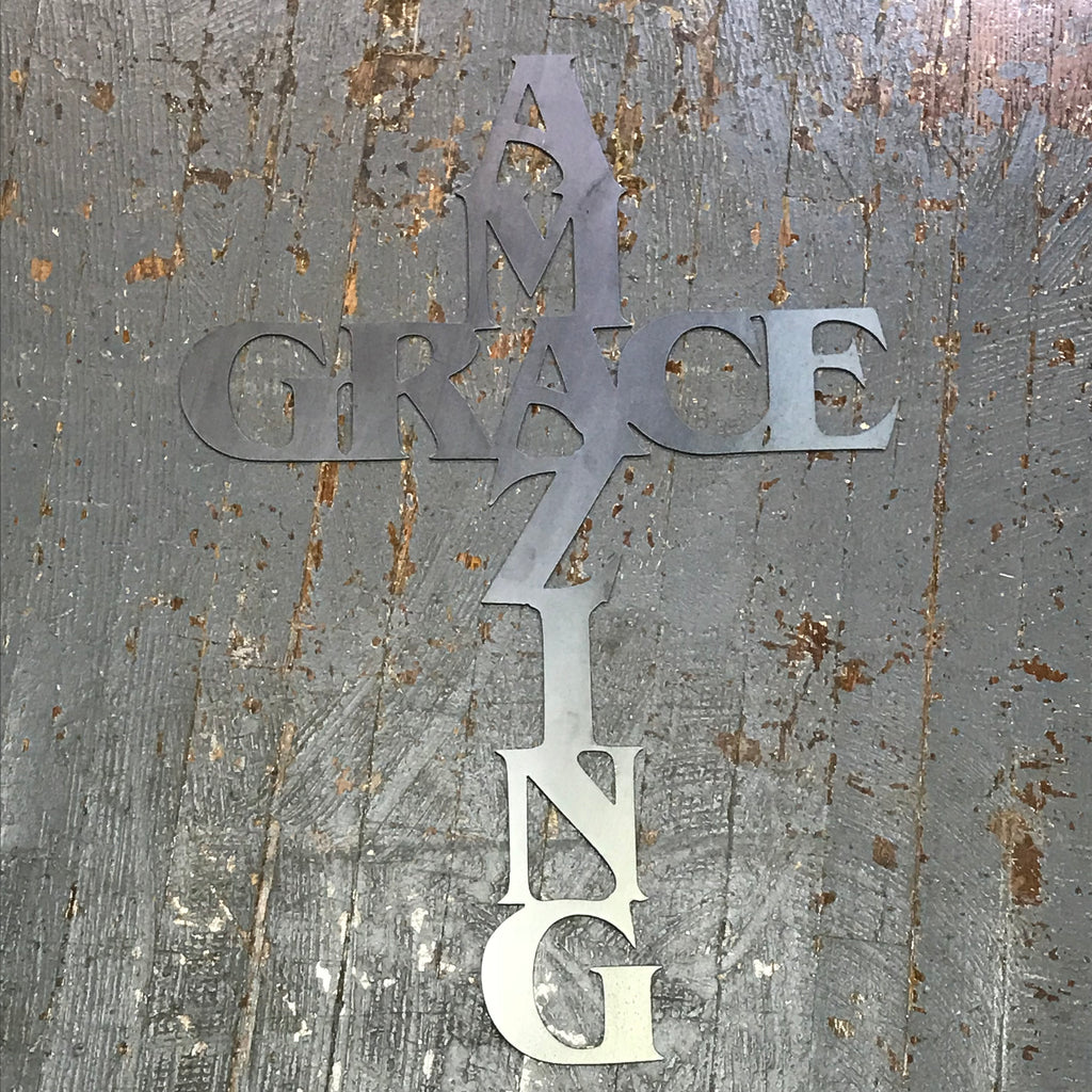 Amazing Grace Word Metal Sign Wall Hanger