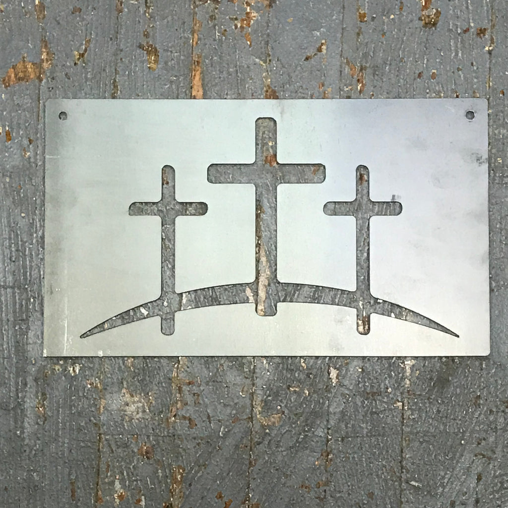 Cross Set Father Son Holy Ghost Metal Sign Wall Hanger