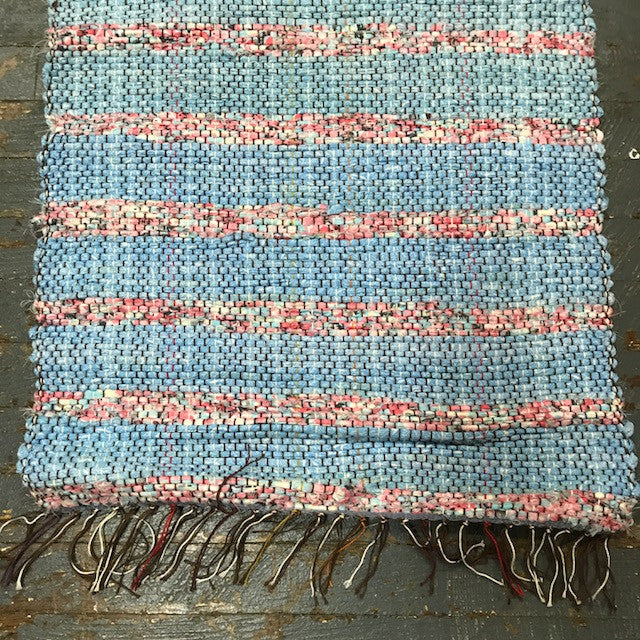 #22 Pink Blue Weaved Table Runner Rug by Morgan