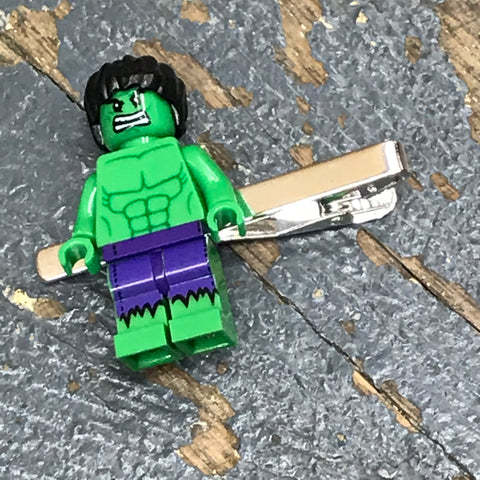 Incredible Hulk DC Marvel Comic Lego Figurine Tie Tack Clip Pin
