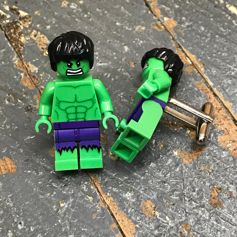 Incredible Hulk DC Comic Lego Figurine Cuff Links Wedding Groom Suit Tux
