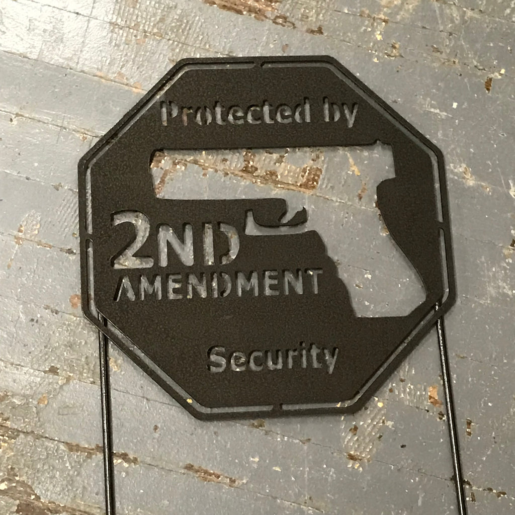 Protected by Second 2nd Amendment Security Metal Yard Sign