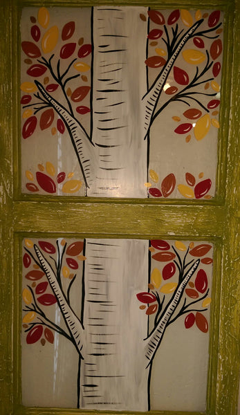 Window Painting at The Depot Birch Tree