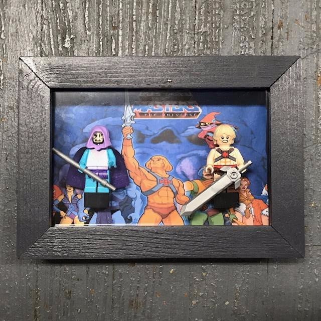 He-man Masters of the Universe Comics Lego Figurine Wall Display Picture Frame Toy Art