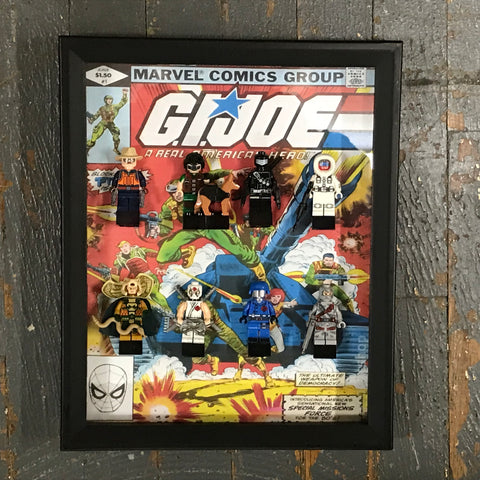 GI Joe Marvel Comics Lego Figurine Wall Display Picture Frame Toy Art