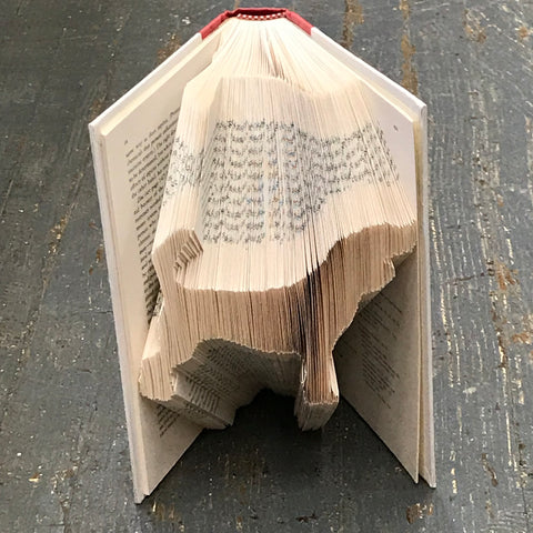 Folded Book Art Custom Folded Pages Hardback Book Dog Animal