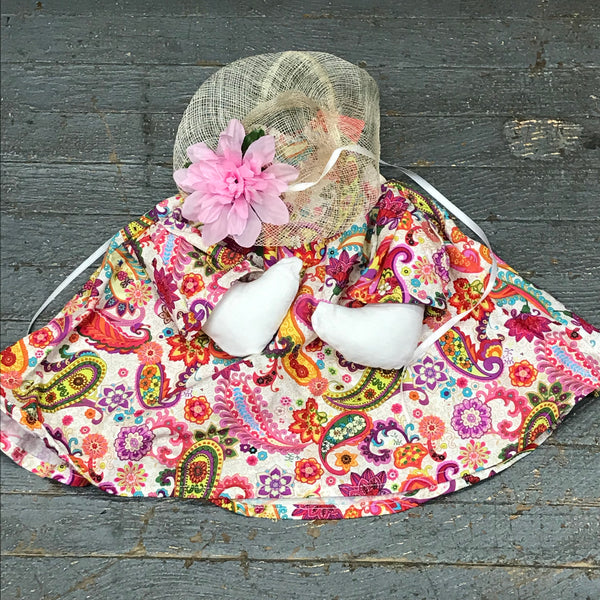 Goose Clothes Complete Holiday Goose Outfit Groovy Paisley Dress and Hat Costume