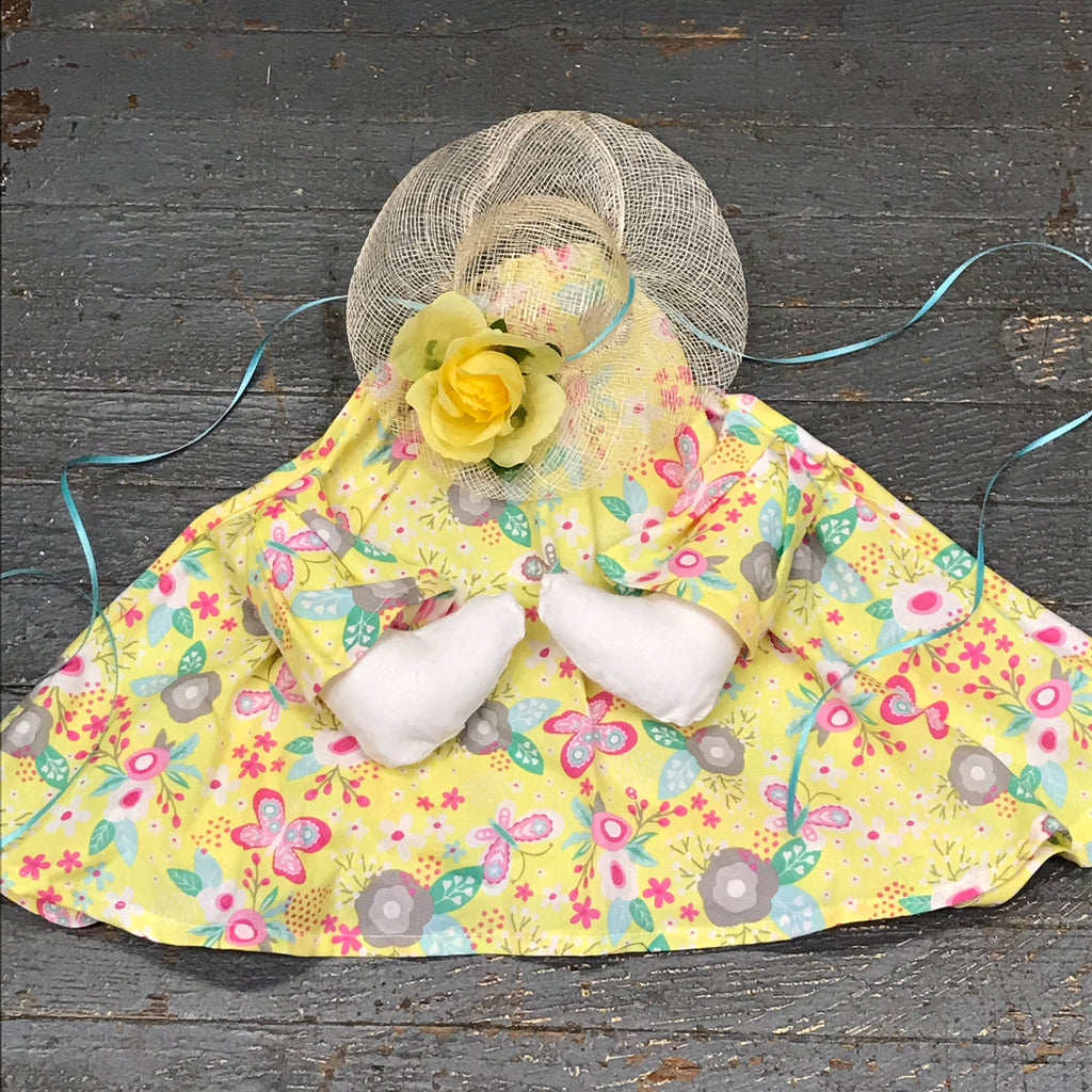 Goose Clothes Complete Holiday Goose Outfit Yellow Pink Butterfly Dress and Hat Costume