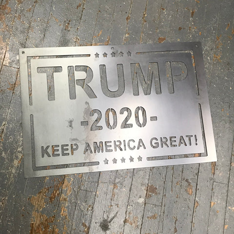 Trump 2020 Keep America Great Metal Sign Wall Hanger