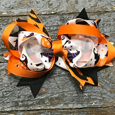 Hair Clip Ribbon Headband Bow Holiday Halloween Witch