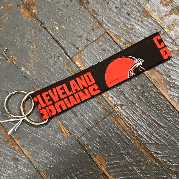 Handmade Key Chain Fob Lanyard NFL Football Cleveland Browns