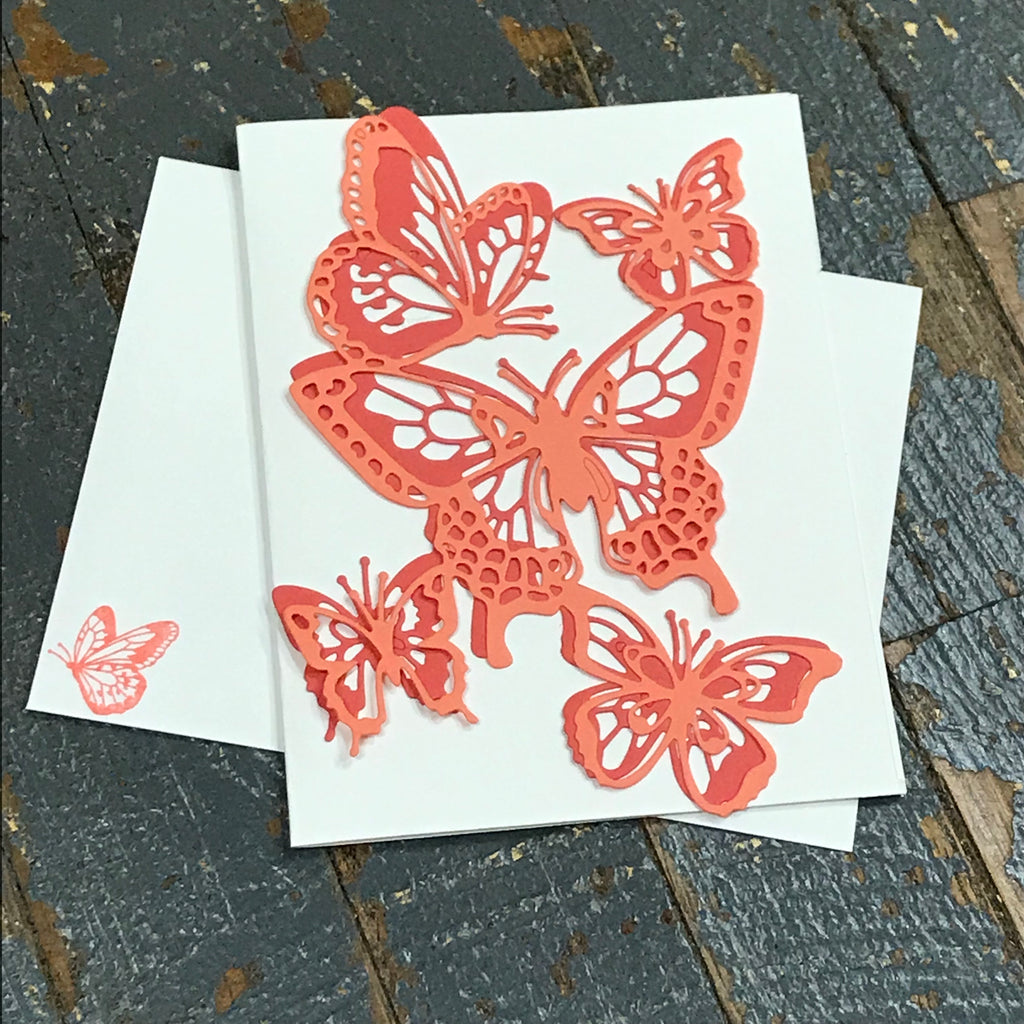 Butterfly Orange Handmade Stampin Up Greeting Card with Envelope