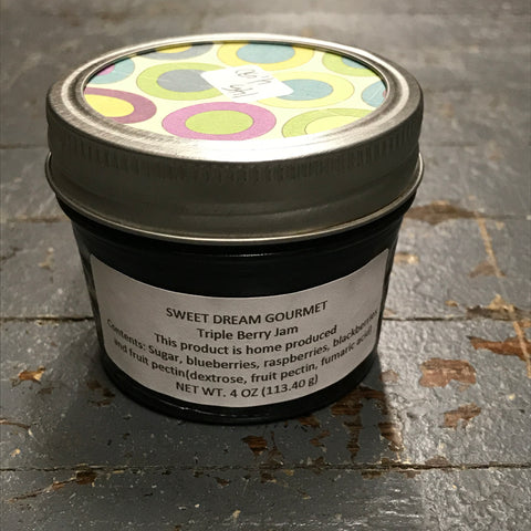 Gourmet Jam Triple Berry 4oz