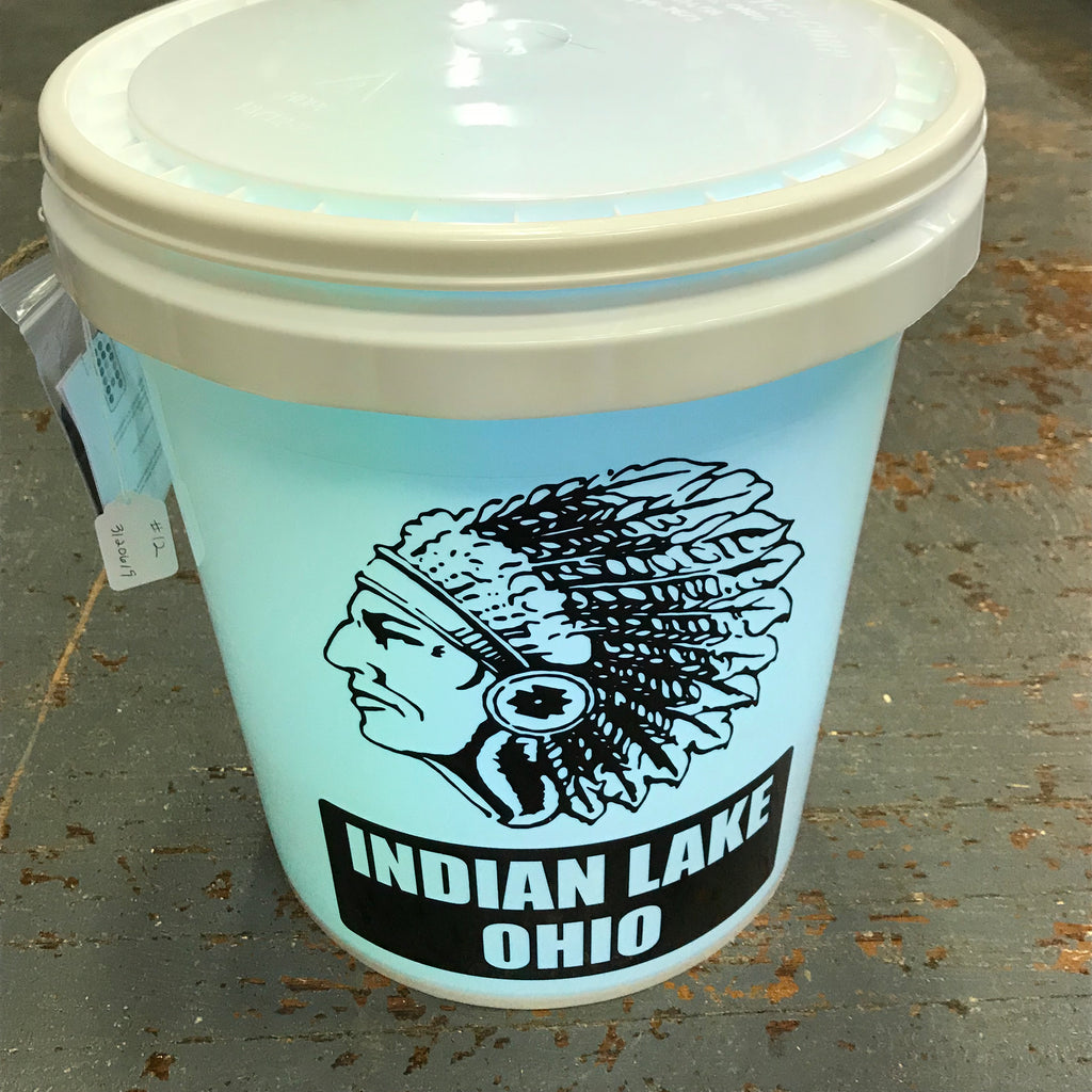 Indian Head Indian Lake Ohio Light Up Bucket