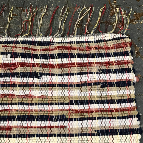 #202 Old Glory Rag Weaved Table Runner Rug by Morgan