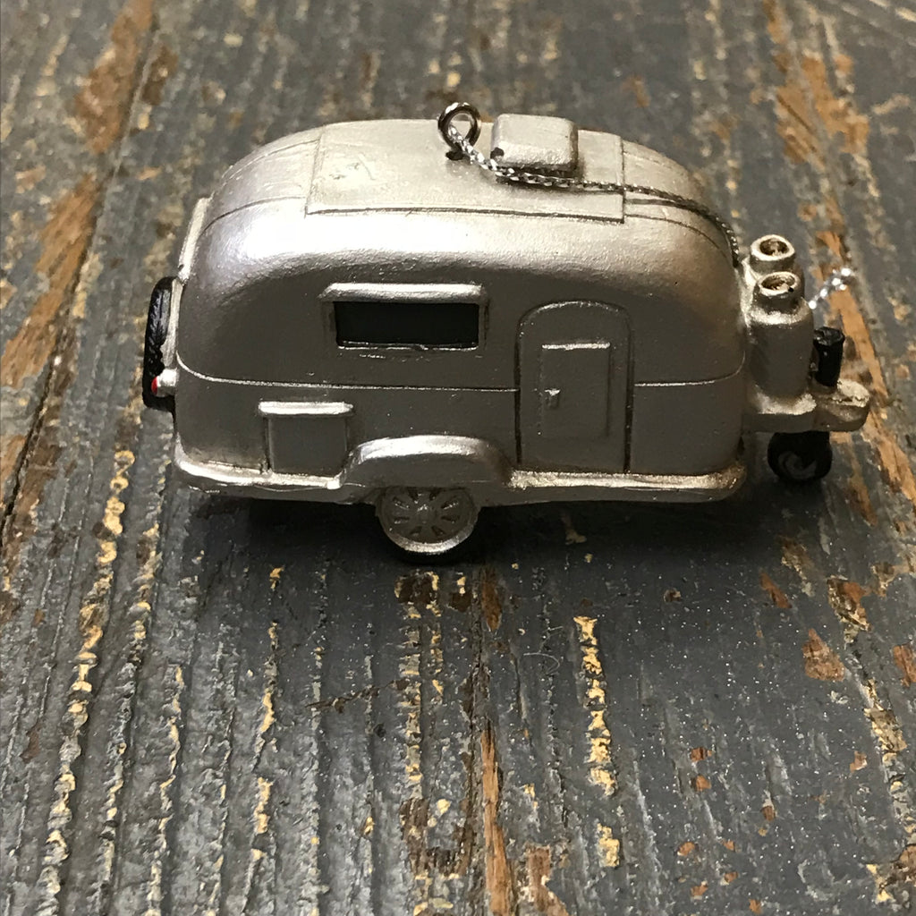 Silver Travel Trailer Camper Ornament