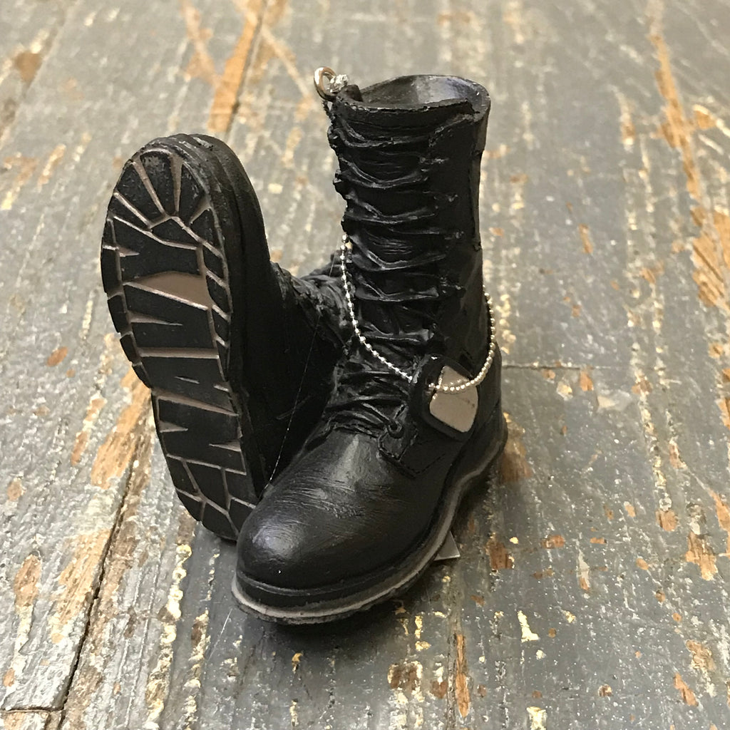 Navy Military Boots Ornament