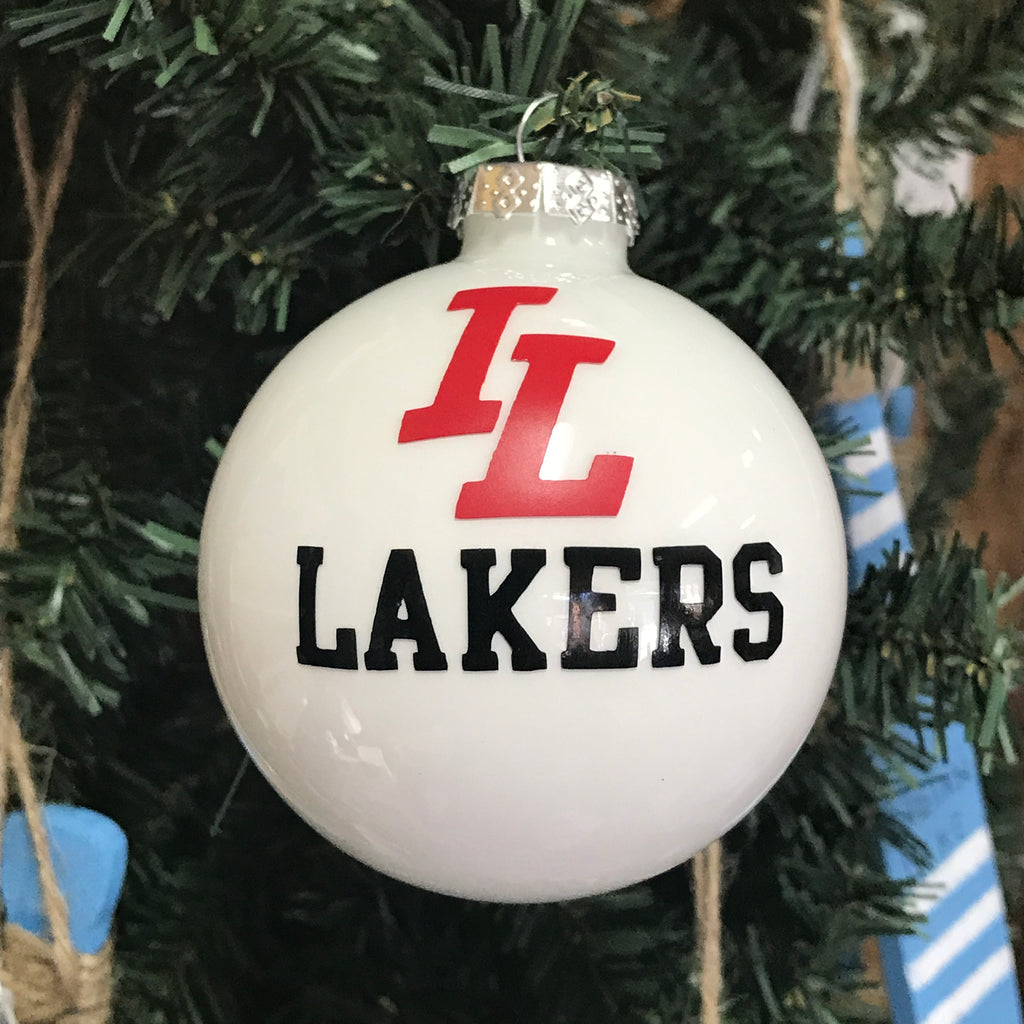 Holiday Christmas Tree Ornament Indian Lake Lakers