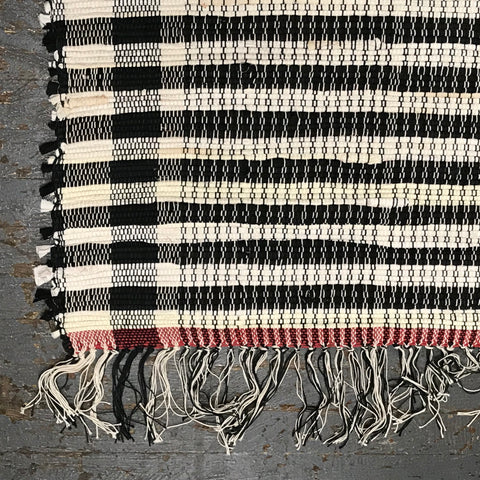 #100 Check Mate Rag Weaved Table Runner Rug by Tom