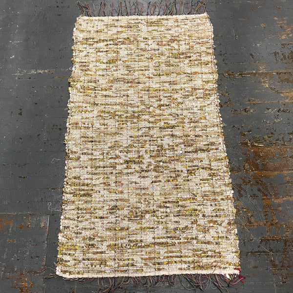 #57 Butterfly Wing Rag Weaved Table Runner Rug by Dennis