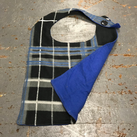 Adult Youth Drool Bib Alzheimer Dementia Special Needs Autism Care Fleece Flannel Plaid