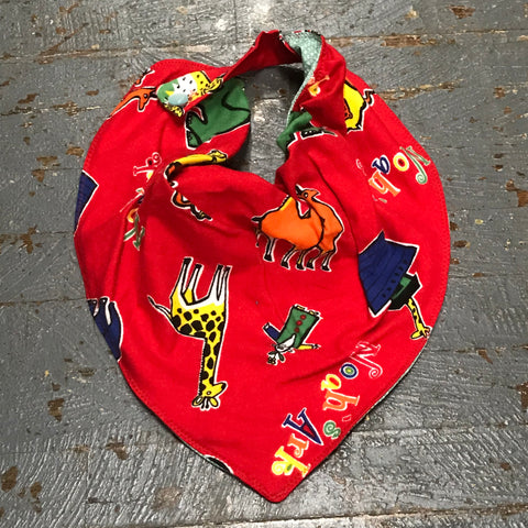 Adult Youth Bandanna Drool Bib Alzheimer Dementia Special Needs Autism Care Flannel PUL Cotton