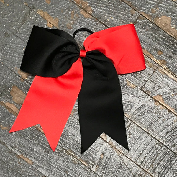 Hair Clip Ribbon Headband Cheer Team Spirit Big JoJo Bow Red Black
