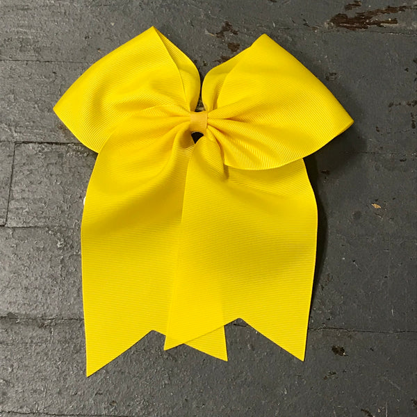 Hair Clip Ribbon Headband Cheer Team Spirit Big JoJo Bow Yellow