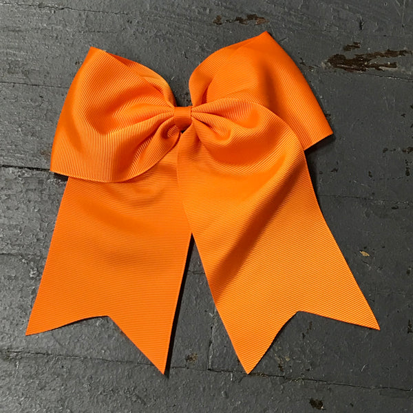 Hair Clip Ribbon Headband Cheer Team Spirit Big JoJo Bow Orange