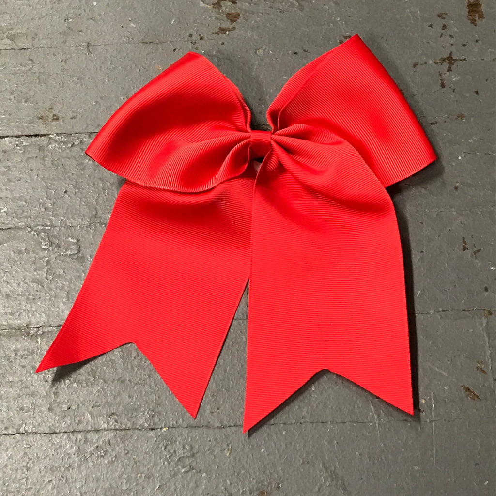 Hair Clip Ribbon Headband Cheer Team Spirit Big JoJo Bow Red