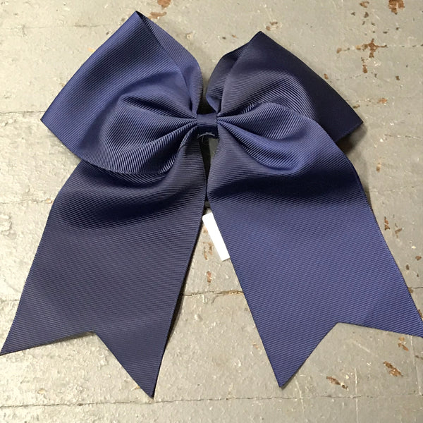 Hair Clip Ribbon Headband Cheer Team Spirit Big JoJo Bow Navy