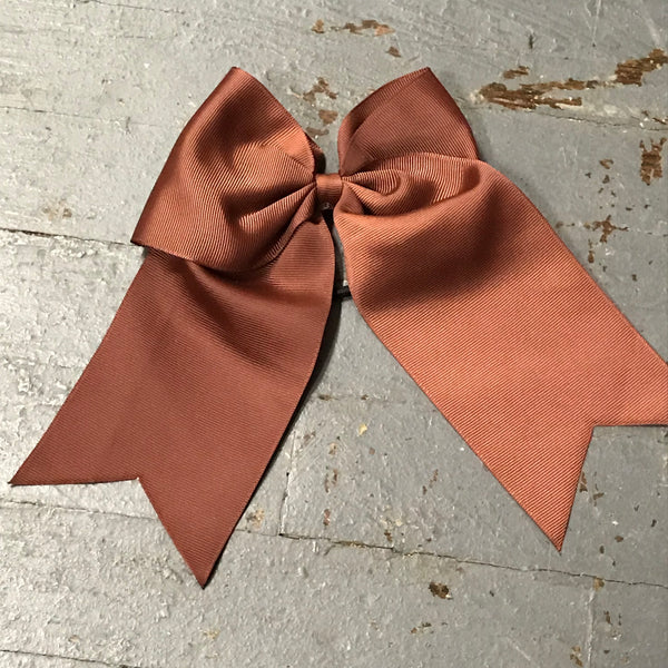 Hair Clip Ribbon Headband Cheer Team Spirit Big JoJo Bow Brown