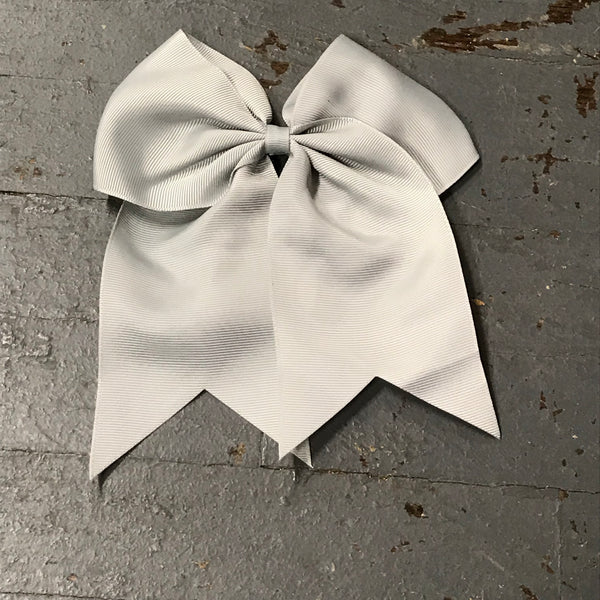 Hair Clip Ribbon Headband Cheer Team Spirit Big JoJo Bow Grey