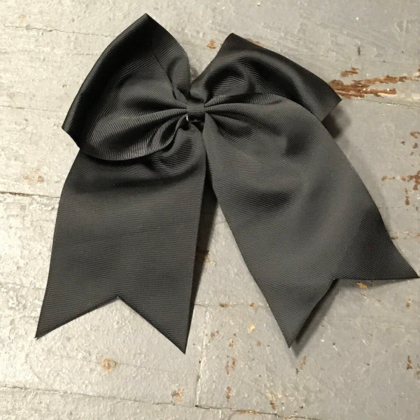 Hair Clip Ribbon Headband Cheer Team Spirit Big JoJo Bow Black