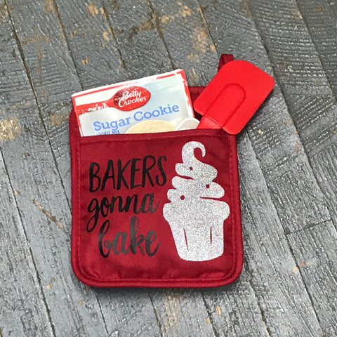 Bakers Gonna Bake Oven Mitt Baking Gift Set