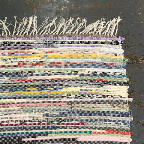 #130 World of Color Rag Weaved Table Runner Rug by Tom