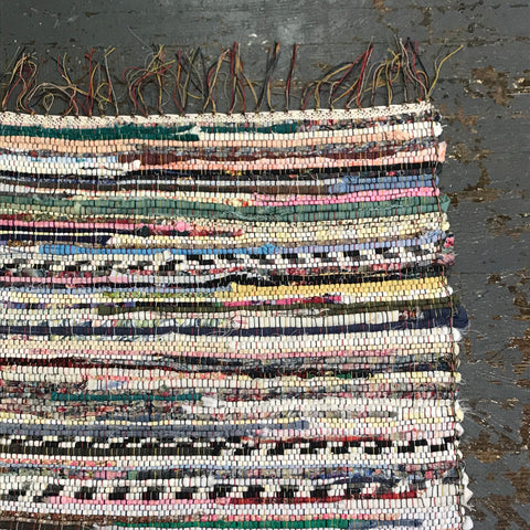#81 Multi Color Rag Weaved Table Runner Rug by Dennis