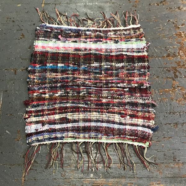 #205 Afternoon Picnic Multi Color Rag Weaved Table Runner Rug by Morgan