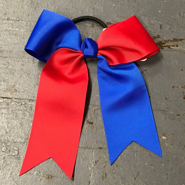 Hair Clip Ribbon Headband Cheer Team Spirit Big JoJo Bow Red Blue