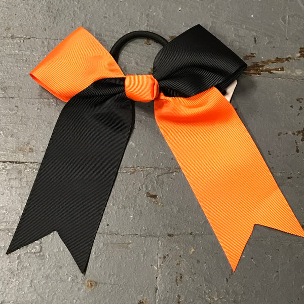 Hair Clip Ribbon Headband Cheer Team Spirit Big JoJo Bow Black Orange