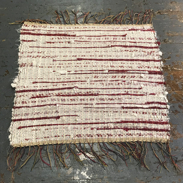 #89 Cherry Vanilla Color Rag Weaved Table Runner Rug by Dennis